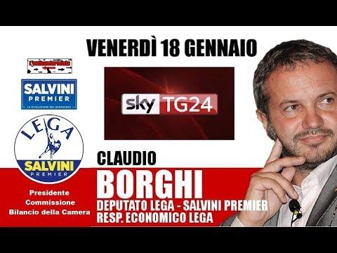 """🔴 Presidente Claudio Borghi a Sky Economia: """"R.di C."""" e """"Quota 100"""" (18/01/2019)"""