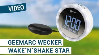 Produktvideo zu Extra lauter Vibrationswecker mit Blitzlicht Geemarc Wake and Shake Star