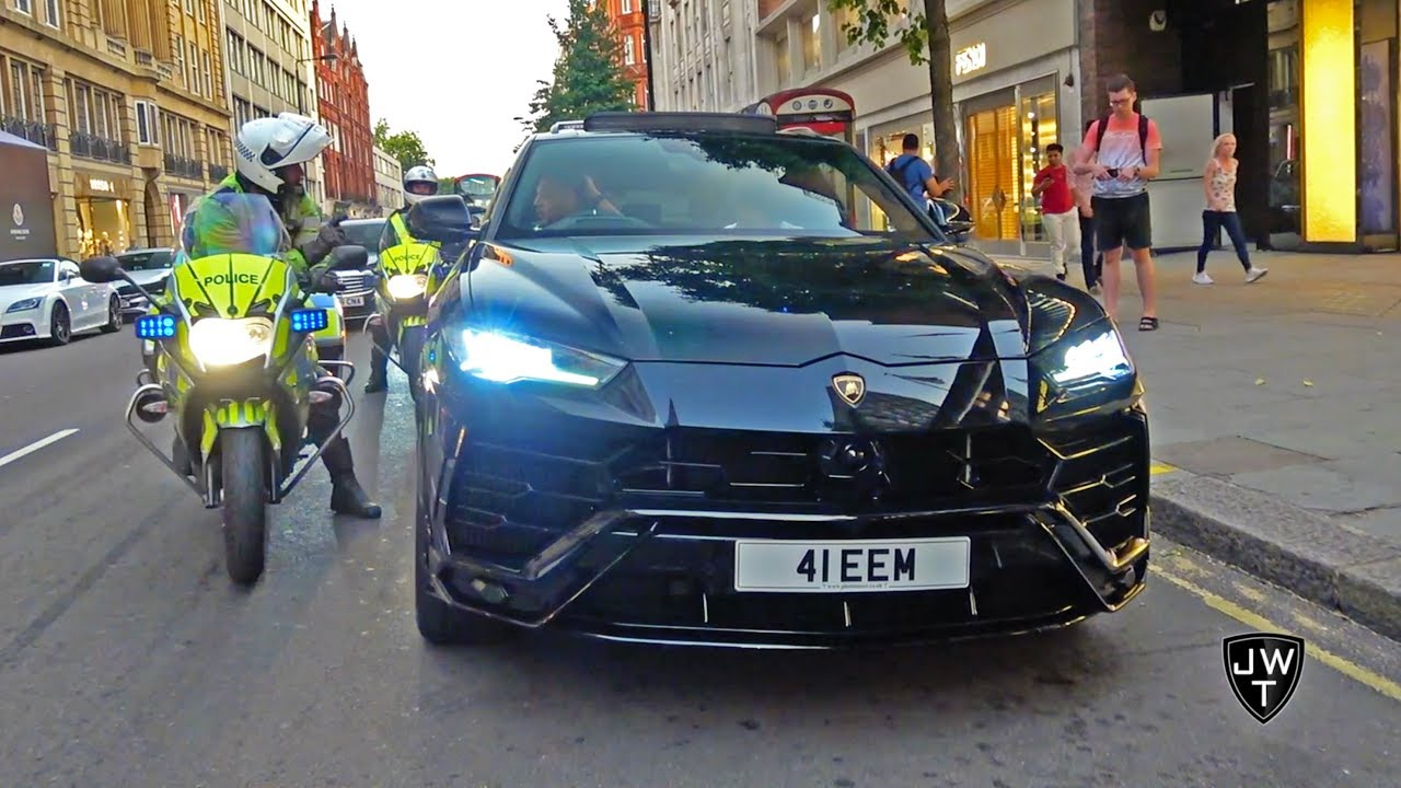 Lord Aleem S 2018 Lamborghini Urus Pulled Over By Police In London Revs Amp More Exhaust Sounds
