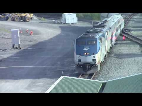 Amtrak Action at the Albany-Rensselaer Station 8-2-17