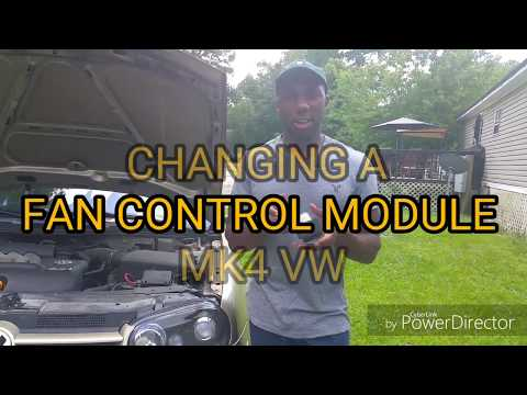 Changing a fan control module for Mk4 VW