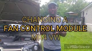 Changing a fan control module for Mk4 VW