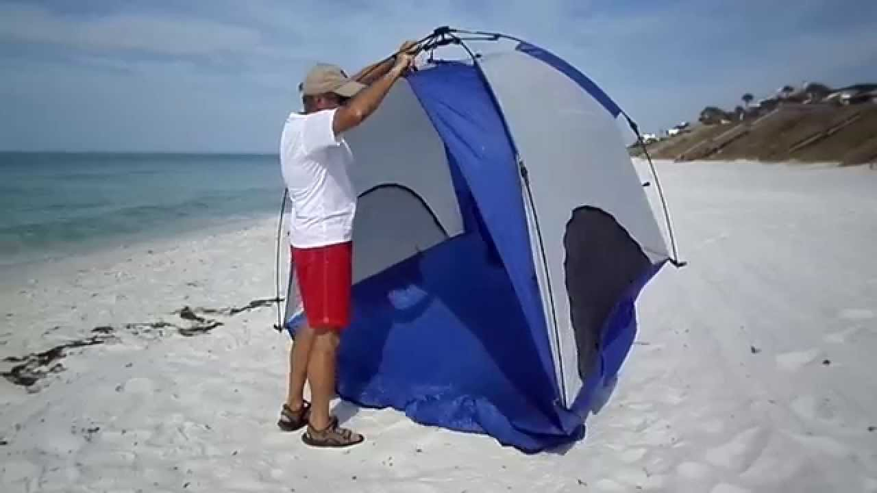 How To Put Up Pop Up Beach Tent Youtube