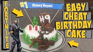 HOW TO CHEAT MAKE A FORTNITE CAKE FOR UNDER £15 | HACK TUTORIAL