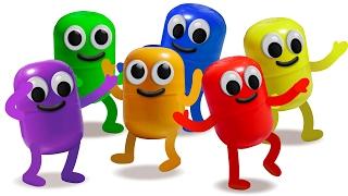 Киндер Сюрприз. ЖИВАЯ КАПСУЛА. Учим цвета. Kinder Surprise.