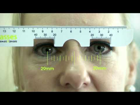 picture about Printable Pd Ruler titled How in the direction of Evaluate your PD for your Zenni Frames - YouTube