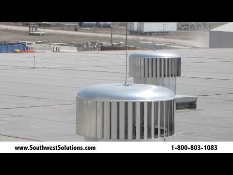 Wind Powered Commercial Ventilation Roof Turbines Reduce Building