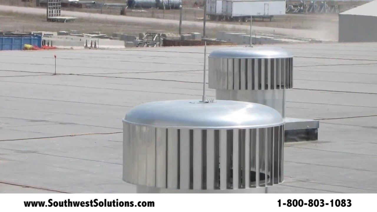 Rooftop Wind Turbines Ventilator : Wind powered commercial ventilation roof turbines reduce