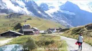 Switzerland Interlaken, track Männlichen to Eiger, top of Europe and Trümmelbach glacier waterfalls