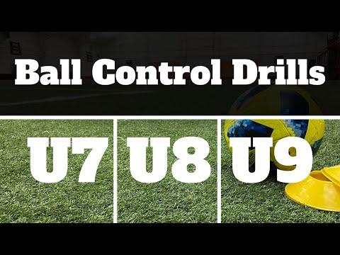 Ball Control Drills For U7, U8 & U9 Soccer/Football 2021  