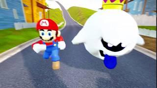 MARIO VS KING BOO RACES - Hello Neighbor