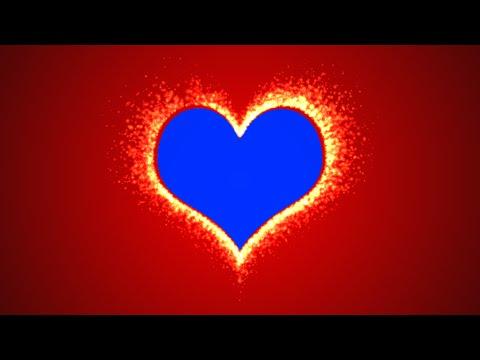 Fire Heart Chroma Key HD
