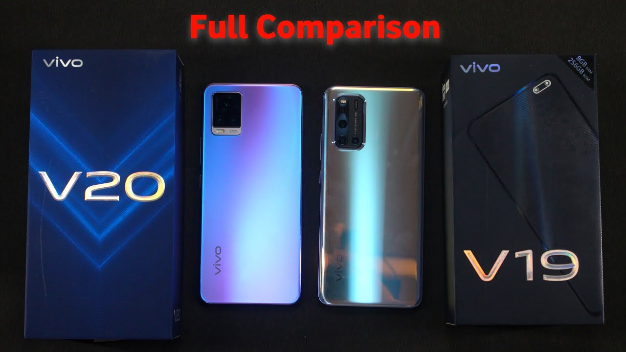 vivo v20 vs vivo v19 – Hand's on  Comparison Hindi