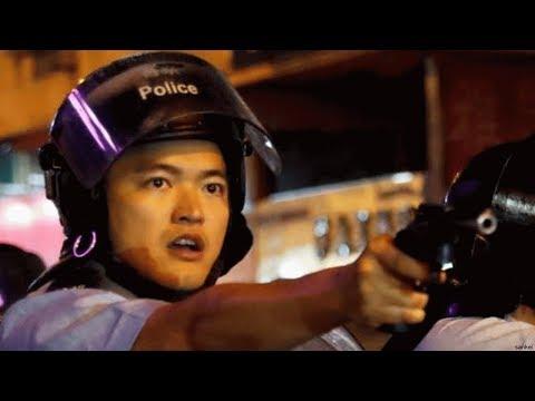 香港警察が発砲