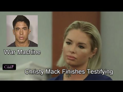 War Machine Trial  Day 4 Part 3 (Christy Mack Testifies) 03/09/17