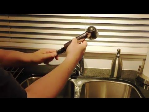 moen kitchen faucet cleaning the sediment traps youtube
