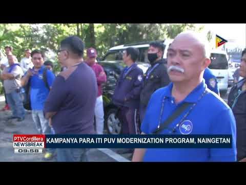 NEWS BREAK: Kampanya para iti PUV modernization program, naingetan