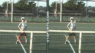 Tennis Star Junior Robbie Aged 7 with Agassi, Nadal, Safin