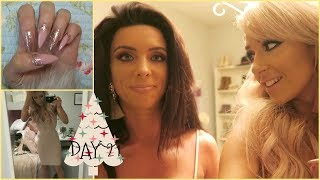 Vlogmas 2017 Day 21    Night out with My bestie and new Christmas nails