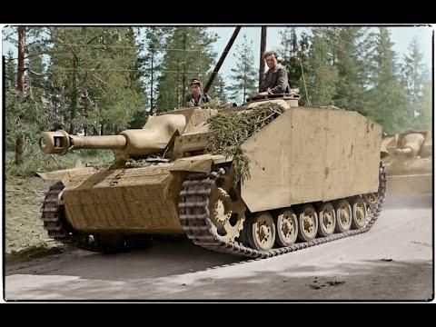 World war 2 - German tanks (Combat footage)