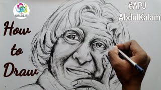 How to draw APJ Abdul Kalam step by step for beginners