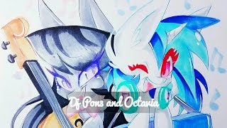 Speed Drawing - (Requested) My Little Pony Dj Pon3 and Octavia