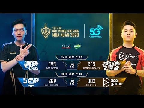 EVS vs CES | SGP vs BOX [25.04.2020] - Viettel 5G ĐTDV mùa Xuân 2020