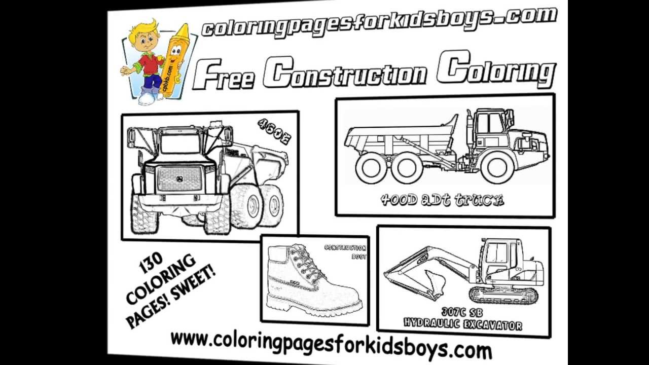 coloringbuddymike construction vehicle coloring pages youtube