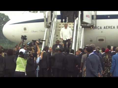President Luiz Inacio da Silva Arrives in Equatorial Guinea