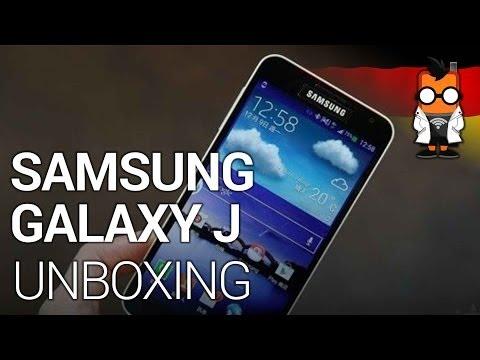 Samsung Galaxy J Unboxing und Kurztest [Deutsch - German]