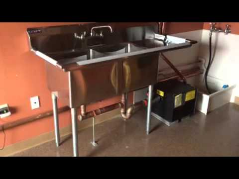 Kitchen Sink Grease Trap Mathews brothers plumbing hvac 2 bay sink and grease trap in mathews brothers plumbing hvac 2 bay sink and grease trap in medford ma youtube workwithnaturefo