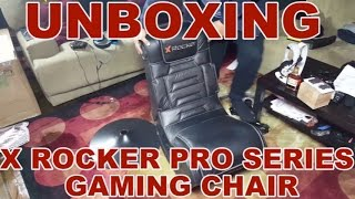 "Unboxing The ""X-Rocker Pro Series Gaming Chair"""