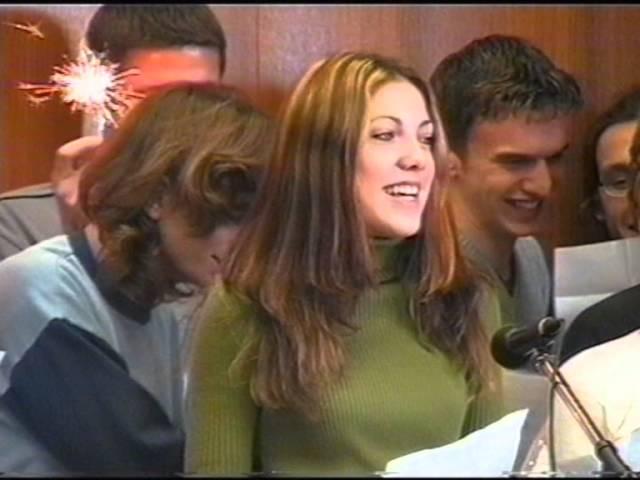 Vánoční besídka žáků SPŠ Edvarda Beneše 2000