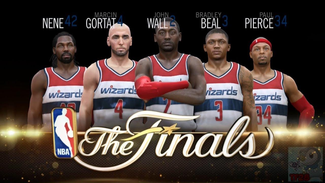 828370a62a1 NBA Live 15 Finals Intro   Celebration - Washington Wizards - YouTube