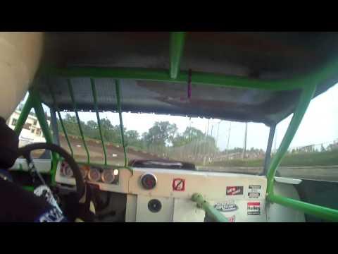 7.3.15---Peoria Speedway-----Street Stock---Heat Race---- in car