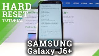 How to Hard Reset SAMSUNG Galaxy J6+ - Factory Reset by Settings
