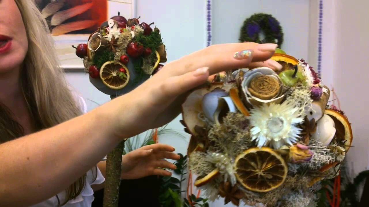 Jesenná dekorácia v tvare stromu - Donáška kvetov - Galéria Kvetín ... 15bd7da75cd
