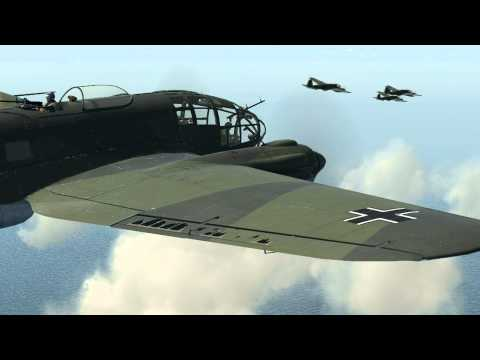IL-2 Sturmovik: Cliffs of Dover - Hurricane vs He-111 FPS Benchmark Test Mission Track in 1.00.14101