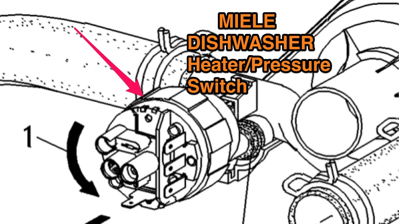 MIELE DISHWASHER -- HEATER/PRESSURE SWITCH -- EASY FIX