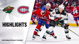 Wild @ Canadiens 10/17/19 Highlights