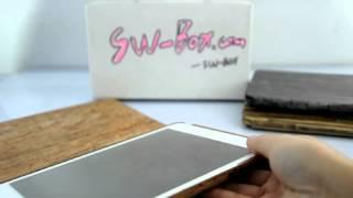 Brown Wood Grain Stand Hard Case for iPad Mini