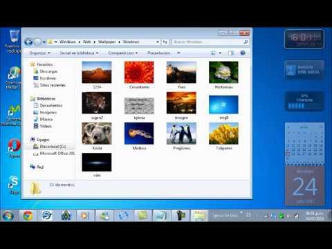Como cambiar el fondo de pantalla de windows 7 starter sin descargar nada youtube - Como cambiar fondo de escritorio windows 7 starter ...