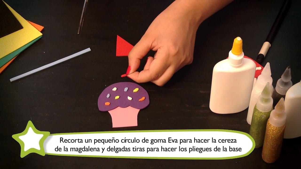 Cómo hacer adornos para lápices : Manualidades para niños en goma ...