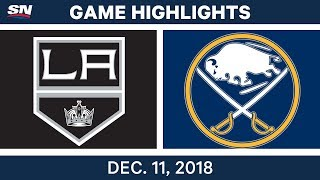 NHL Highlights | Kings vs. Sabres - Dec 11, 2018