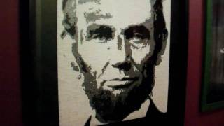 Abraham Lincoln portrait out of Duct Tape!