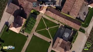 Présentation d'un domaine viticole Bordelais en vue aérienne