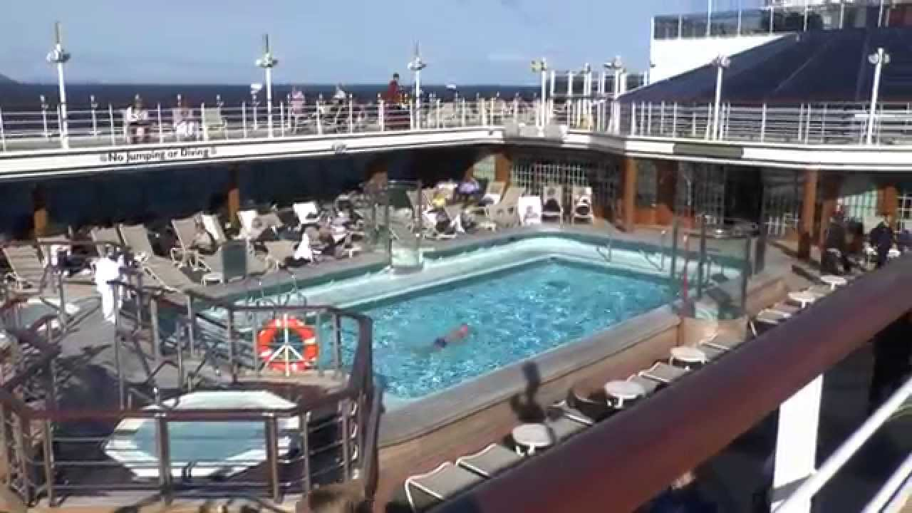 Cunard queen elizabeth 2014 hd part 2 swimming pools - Queen mary swimming pool victoria ...