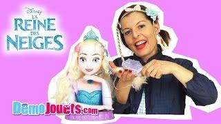 (JOUET) Reine Des Neiges Elsa Tête à coiffer Disney Frozen IMC Toys - Démo Jouets