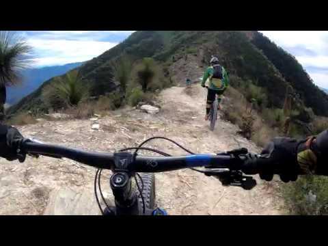 Descenso del Cerro de la media luna, ultima pedaleada del año, Sierra Gorda