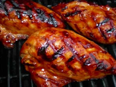 Caribbean Pineapple glazed grilled chicken
